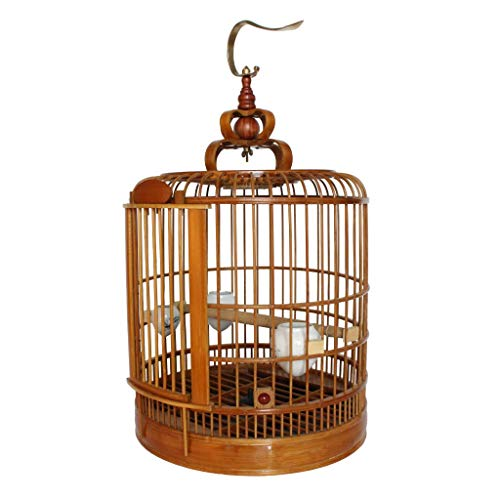 - TBIR Indoor Bird Breeding Cage Includes Feeding Cup Upgrade Bamboo Durable Bird Cage Seed Catcher Bird Cage Skirt Classic Parrot Cage Outdoor Flying Cage, Suitable for Parrot/Bird/Parakeets Prime