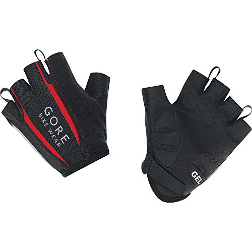 Gore Bike Wear Men's Power 2.0 Gloves, Medium, Black/Red ()