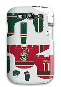 Hot Tpu Cover Case For Galaxy/ S3 Case Cover Skin - Minnesota Wild Hockey Nhl (1)