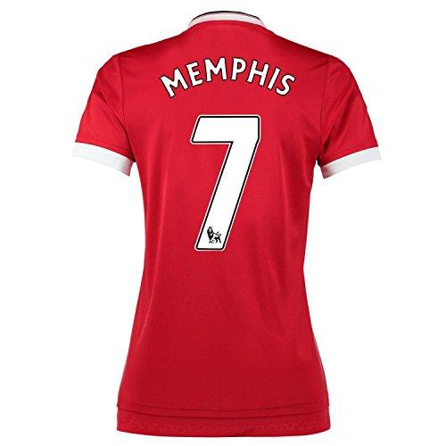 テレビ使役歯科医Adidas Memphis #7 Manchester United Home Soccer Jersey 2015 -WOMEN(Authentic name and number of player)/サッカーユニフォーム マンチェスター ユナイテッド FC ホーム用 メンフィス 背番号7 2015 レディース向け