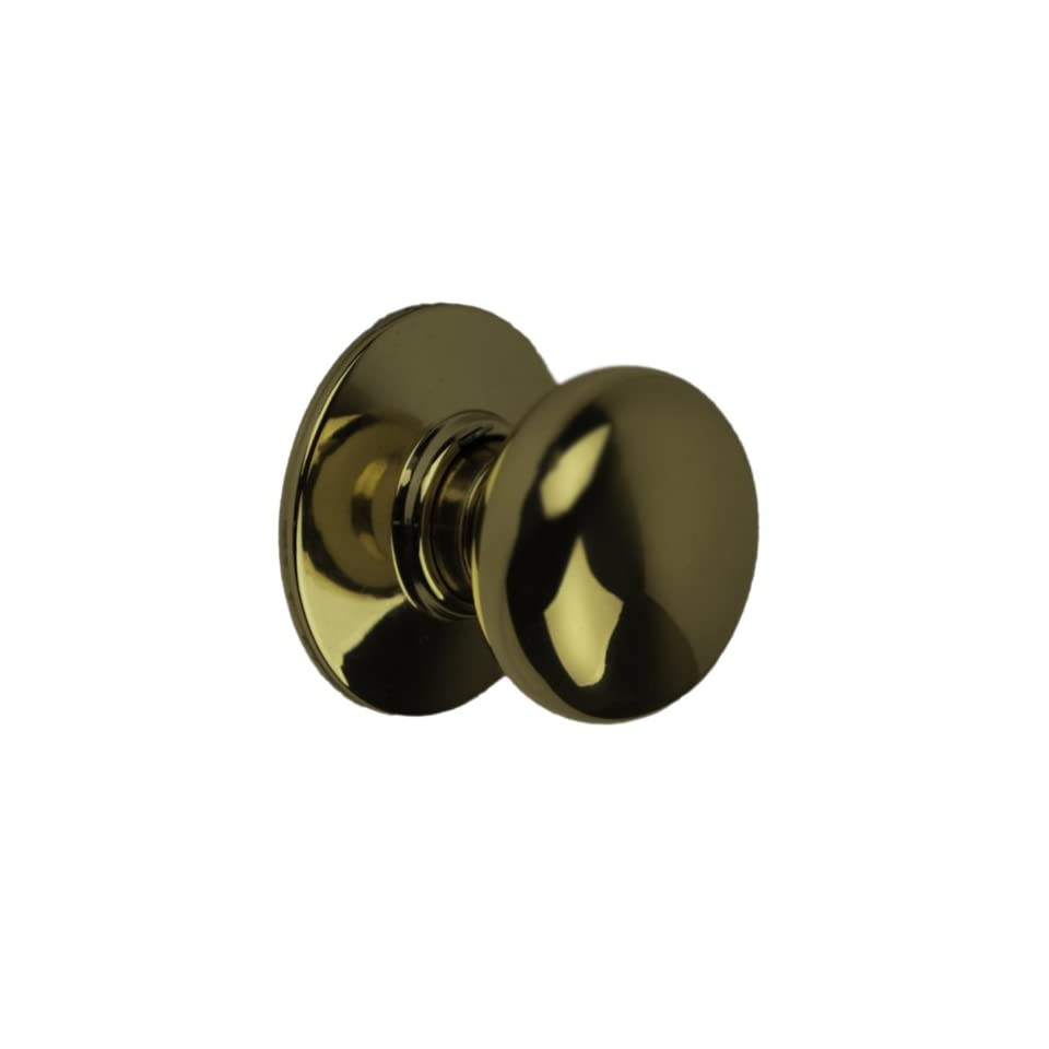 Schlage A10S PLY 605 Series A Grade 2 Cylindrical Lock, Passage Function, Keyless, Plymouth Design, Bright Brass Finish