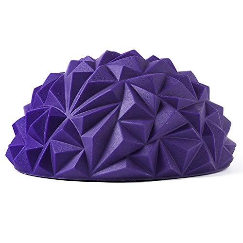Beautly Massager Spiky Massage Ball PVC Foot Trigger Point Stress Relief Yoga Massager Ergonomic Design Foot Massager, for Relieving Plantar Fasciitis (Purple)