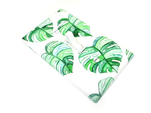Heart Shaped Monstera Leaf Light Switch Cover Plate