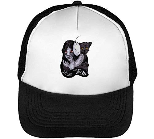 Negro Blanco The Hombre Snapback Catlady Gorras Beisbol wzPXx
