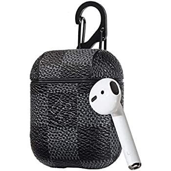 94a24541eee Fit for AirPods Wireless Headphone Charging Cases,New Luxury Designer PU  Leather Fashion Graphic Style Full Protective Case Cover for Apple Airpods  with ...