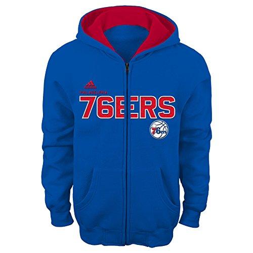 Outerstuff NBA Youth 8-20 Philadelphia 76ers Stated Full Zip Hoodie (Adidas Philadelphia 76ers Sweatshirt)