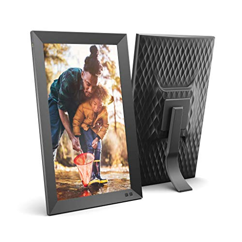 NIX 15 Inch USB Digital Picture Frame - Portrait or Landscape Stand, Full HD Resolution, Auto-Rotate, Magnetic Remote Control - Mix Photos and Videos in The Same Slideshow