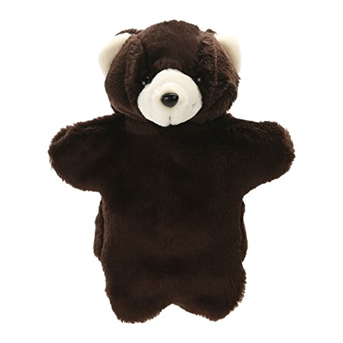 (Brightric Lovely Bear Hand Puppet Baby Kids Developmental Plush Doll Toy (Black))