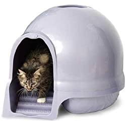 Booda Dome Cleanstep Cat Box, Brushed Nickel, Covered Litter Dome, New