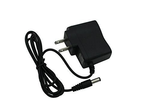 Power Input Connector - 9V AC/DC Power Supply Adapter 500ma (0.5 amps) 5.5 mm2.1 mm Tip (5.5mm OD X 2.1mm ID) - AC to DC Electric Transformer Inverter for Small 9-Volt DC Electronic Devices Under 0.5a with a Slim Wall Plug