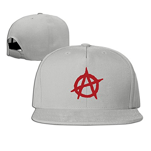 (Anarchist Flag Adjustable Six-panel Baseball Cap Ash)