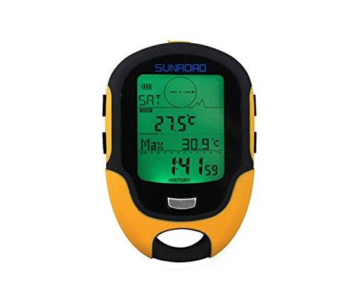 Emperador de gadgets® Sunroad FR500Altímetro Barómetro Brújula Termómetro LCD Digital Multifunción
