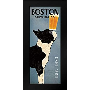 Boston Terrier Brewing Co Panel Framed Art Print by Fowler, Ryan