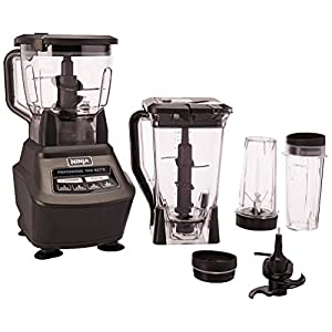 Ninja Mega Kitchen System (BL770) Blender/Food Processor with 1500W Auto-iQ Base, 72oz Pitcher, 64oz Processor Bowl, (2…