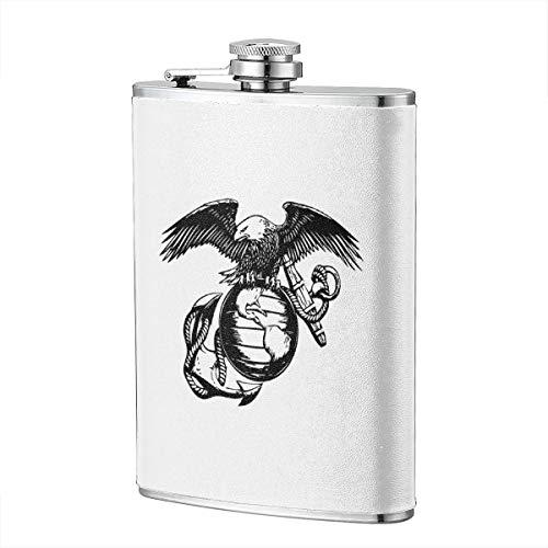 - Yisili Eagle Globe Anchor USMC Marine Corps Hip Flask for Liquor Flask Wine Flagon Mug Funny Novelty 8oz