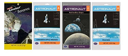 Astronaut Foods Freeze-Dried Space Food Fruit 4 Flavor ...