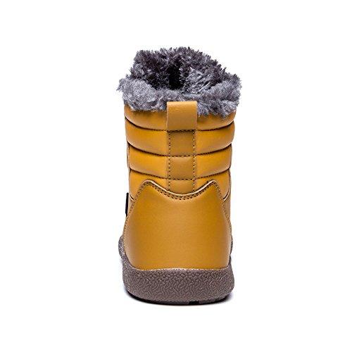Yiruiya Uomo Stivali Da Neve Antiscivolo Con Completamente Foderato In Pelliccia Alta Cima / Basso Kaki