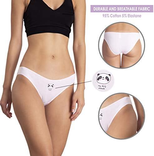 5 Pack Leendi Womens Underwear Cotton Hipster Low Waist Panties 3 Pack