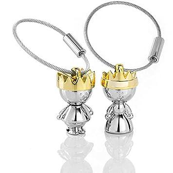 YOKIRIN Llavero para Llaves Llavero Organizador Llavero Pareja Guardar llaves Diseño para Chicas Mujeres Hombres (de Forma de Queen and King)