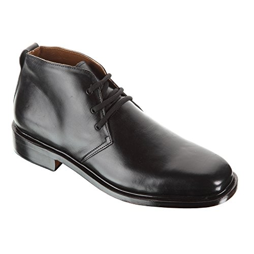 Handmade Damen Frost Drake Square toe design high quality leather Mens Shoes, Color Black, Size US12 by Damen Frost