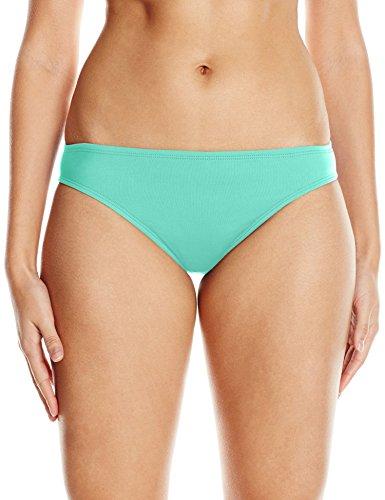 Bay Bikini Bottom - La Blanca Women's Island Goddess Solid Hipster Bikini Swimsuit Bottom, Seafoam, 16