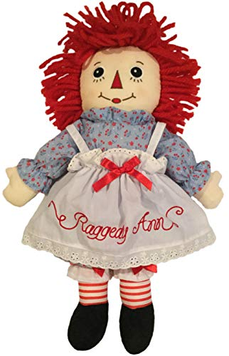 "Deluxe 16"" Raggedy Ann Doll with Embroidered Eyes and Removable Clothes"