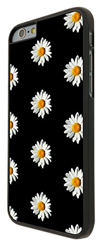 562 - Cute Vintage shabby Chic Floral Roses Daisy Design iphone 6 6S 4.7'' Coque Fashion Trend Case Coque Protection Cover plastique et métal - Noir