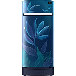 Samsung 198 L 4 Star Inverter Direct-Cool Single Door Refrigerator (RR21T2H2X9U/HL, Paradise Blue, Base Stand with…