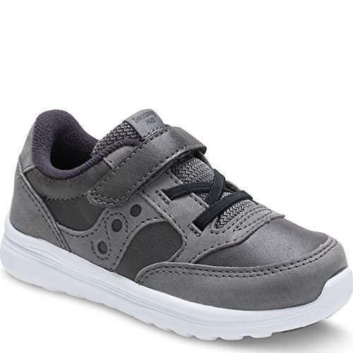 Saucony Boys' Baby Jazz LITE Sneaker, Grey, 4 Medium US Toddler