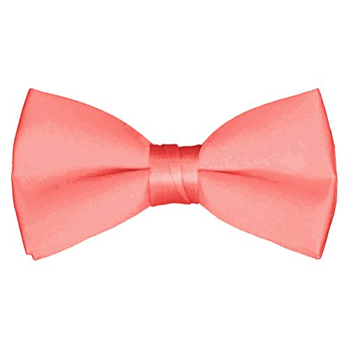 navy blue and coral bow tie - 8