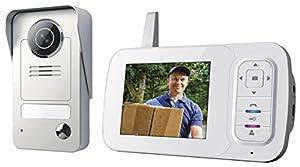 Smartwares Drahtlose Videotürsprechanlage mit Nachtsichtfunktion und...