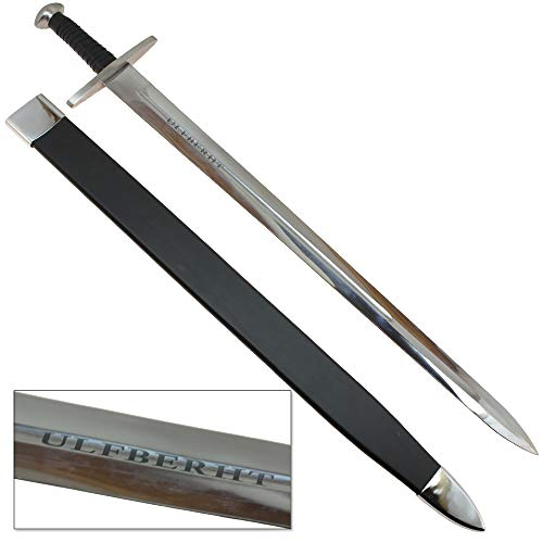 Viking Ulfberht Battle Ready Fully Functional Carbon Steel Sword with Scabbard