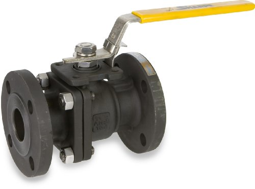 Sharpe Valves 50114 Series Carbon Steel Ball Valve, Class 150, Two Piece, Lockable Lever Handle, 1-1/2
