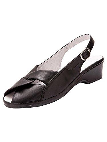 De Vestir Mujer Pediconfort Negro Sandalias Bq1ZU5w