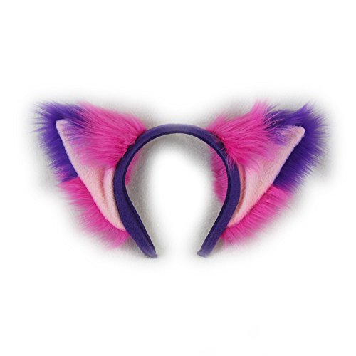 Pawstar Cheshire Fox Furry Ear Headband Kitty Cat Adult Unisex Halloween Costume - Classic]()