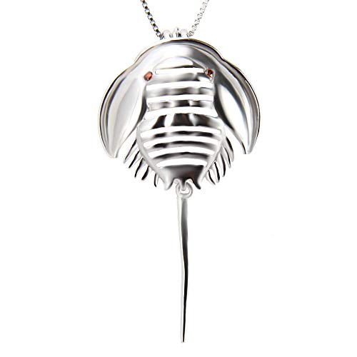 925 Sterling Silver Horseshoe Crab Pendant Necklace for Women Jewelry, Animal Design Pearl Cage Pendants for Women and -