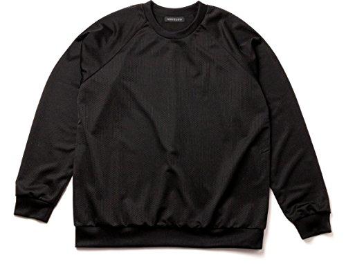 SHIELDS(シールズ) アウター 長袖 LIFE STYLE メッシュ プルオーバー トレーナー 17-SHLS-09-01 ブラック Sサイズ