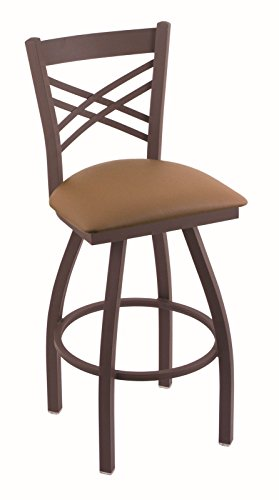 41x%2BCnJnIfL - Holland-Bar-Stool-Co-820-Catalina-25-Counter-Stool-with-Bronze-Finish-and-Swivel-Seat-Allante-Beechwood