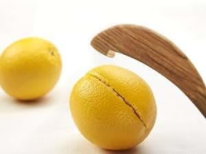 """ScanWood: Olivewood Orange Peeler 4.7"""""""
