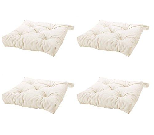 Ikeas MALINDA Chair cushion (4, White) (Patio White Chair Cushions)