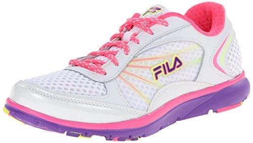 Fila Womens Memory Panache Training Shoe White/Knockout Pink/Electric Purple