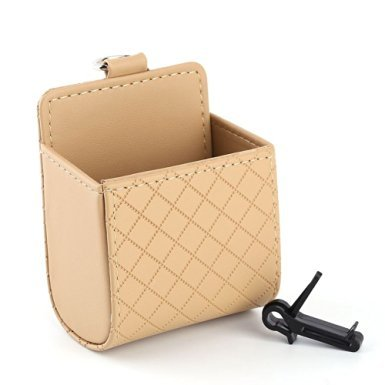 (LOBZON 3 Colors Lambskin Mini Car Trunk Storage Bags Outlet Storage Box Organizer (beige))