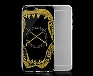Light weight with strong PC plastic case for iphone 5c Art Illustration Art I Heart Sharks Black