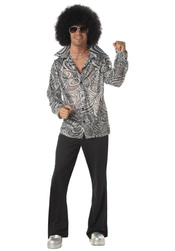 [Groovy Disco Shirt Costume - X-Large - Chest Size 44-46] (Saturday Night Fever Costume For Adults)
