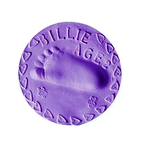 Handprint Keepsake Craft - Gbell Soft Clay Rubber Mud for Handprint Footprint Fingerprint Imprint,Baby Kids Toy Gift Keepsakes - DIY Arts Crafts (Purple)