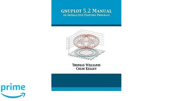 Amazon com: gnuplot 5 2 Manual: An Interactive Plotting Program