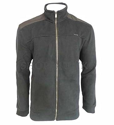 Calvin Klein Jeans Men's Full-Zip Fleece Mock Neck Sweatshirt Jacket (XX-Large, Black)