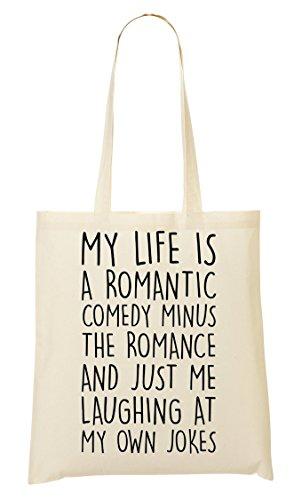 CP My Life Is A Romantic Comedy Funny Bolso De Mano Bolsa De La Compra