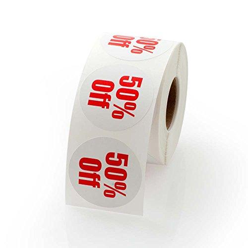 """50% Off Round Label / Sticker 1.5"""""""