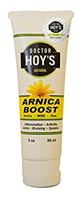 DOCTOR HOY'S TM Natural Arnica Boost stimulates circulation to promote healing - Witch Hazel to Promote Rapid Pain Relief - Versatile to use on sensitive areas of the body, open abrasions, calm nerve pain